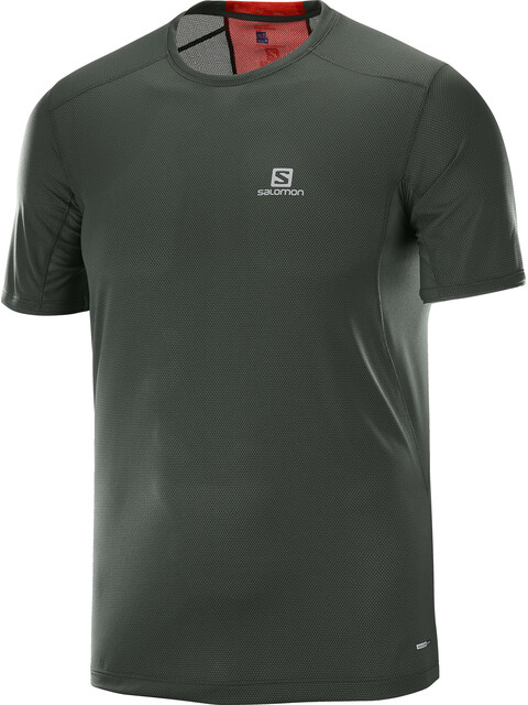 Salomon Trail Runner SS Tee Men urban chic/fiery red